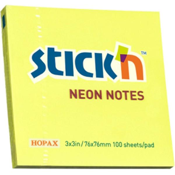 کاغذ یادداشت چسب دار هوپکس مدل Neon بسته 100 عددی