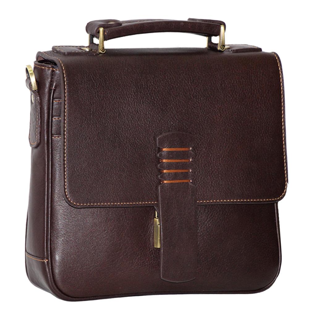 کیف دوشی چرم طبیعی آدین چرم مدل DG33.1