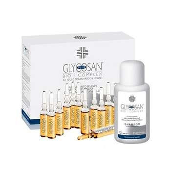 شامپو ضد ریزش مو گلیکوزان مدل Anti Hair Loss حجم 235 میلی لیتر به همراه لوسیون بسته 12 عددی