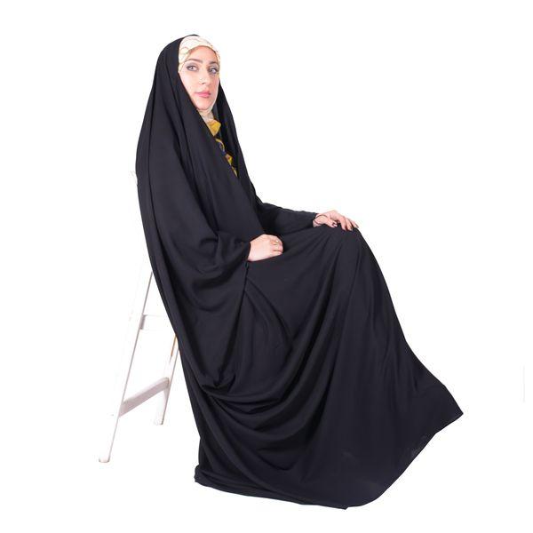 چادر جده عبایی کرپ کن کن ژرژت شهر حجاب مدل 8014