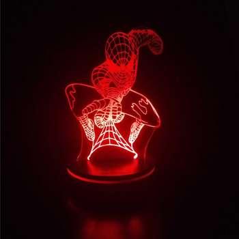 چراغ خواب پارسافن لیزر طرح کارتونی مرد عنکبوتی