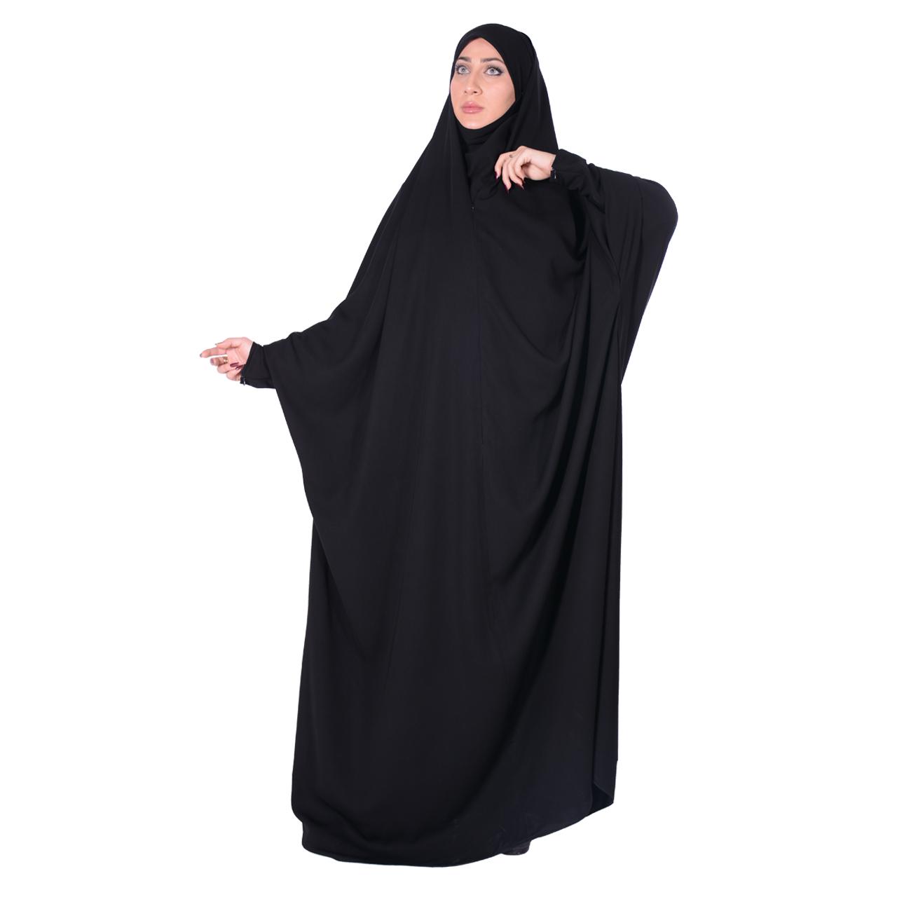 چادر حجاب جلابیب کرپ حریرالاسود شهر حجاب مدل 8070