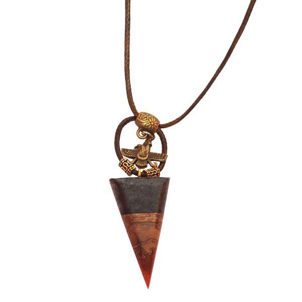 گردنبند طرح الماس مدل GTPW2