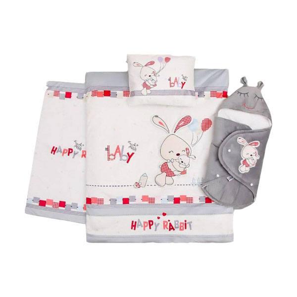 سرویس خواب چهار تکهنوزاد طرح خرگوش مهربان