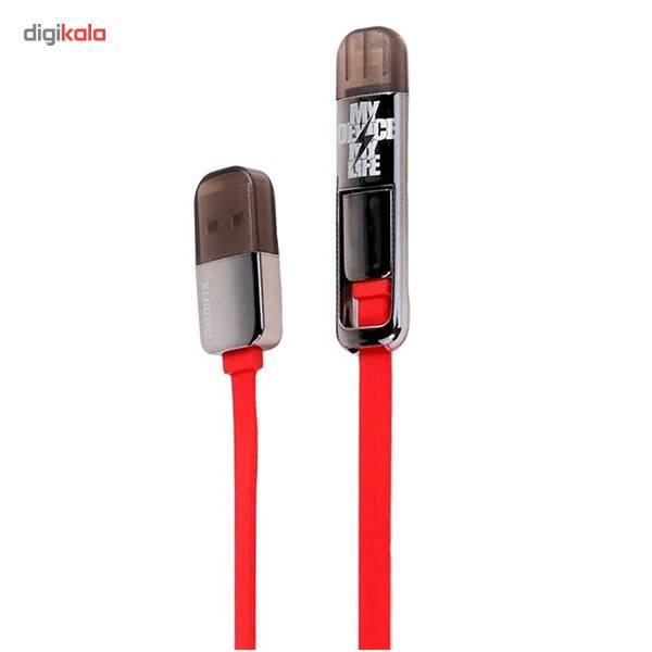 کابل تبدیل USB به لایتنینگ/microUSB ریمکس مدل Transformers طول 1 متر main 1 1