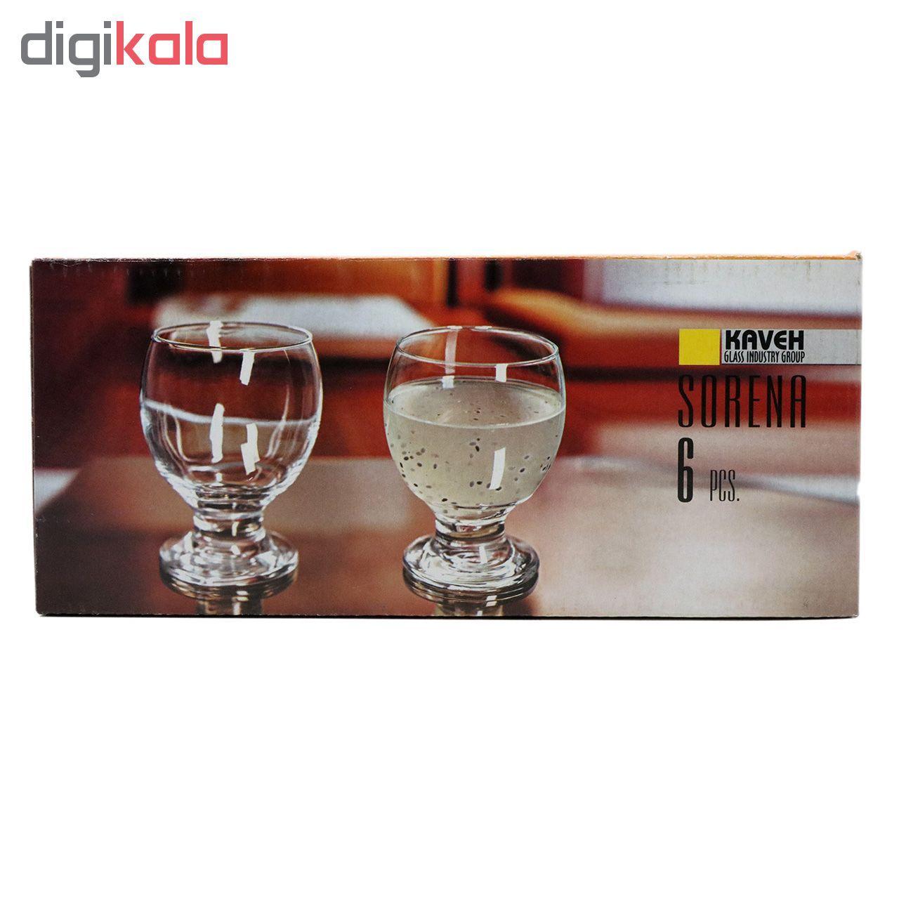 مشخصات قیمت و خرید نیم لیوان کاوه مدل Sorena بسته 6 عددی دیجی کالا