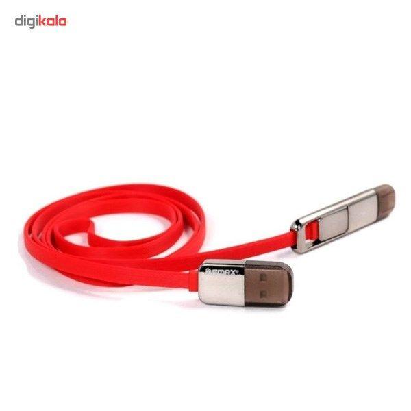 کابل تبدیل USB به لایتنینگ/microUSB ریمکس مدل Transformers طول 1 متر main 1 2