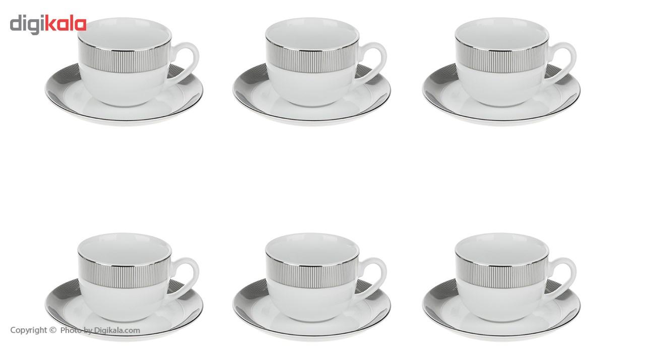 سرویس چینی 12 پارچه چای خوری چینی زرین ایران سری ایتالیا اف مدل پالادیوم درجه عالی