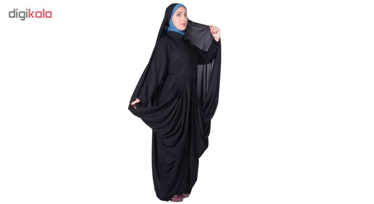 چادر مانتو افرا کرپ کن کن ژرژت شهر حجاب مدل 8063