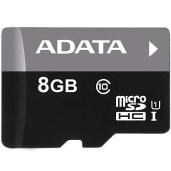 کارت حافظه microSDHC ای دیتا مدل Premier کلاس 10 استاندارد UHS-I U1 سرعت 50MBps ظرفیت 8 گیگابایت