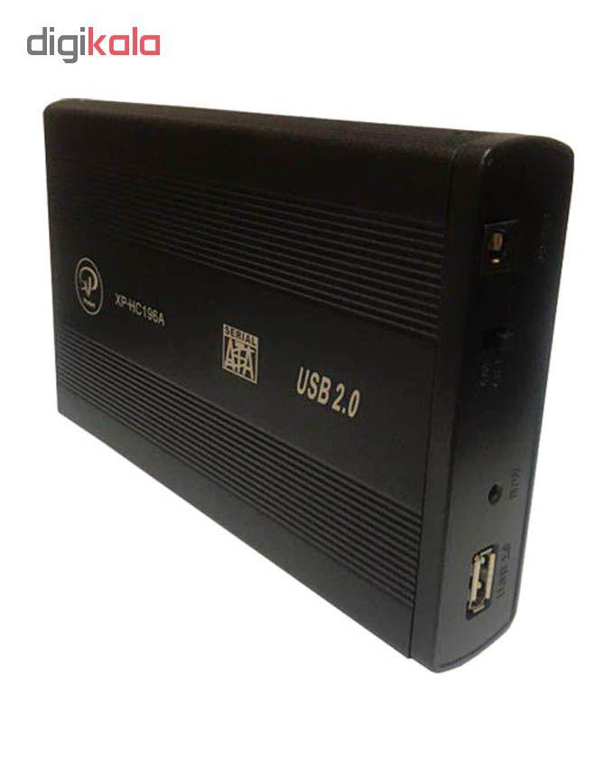 باکس تبدیل SATA به USB 2.0 هارددیسک 3.5 اینچ ایکس پی پروداکت مدل XP-HC196A