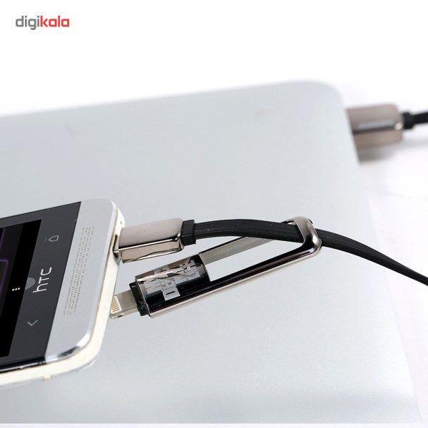 کابل تبدیل USB به لایتنینگ/microUSB ریمکس مدل Transformers طول 1 متر main 1 7