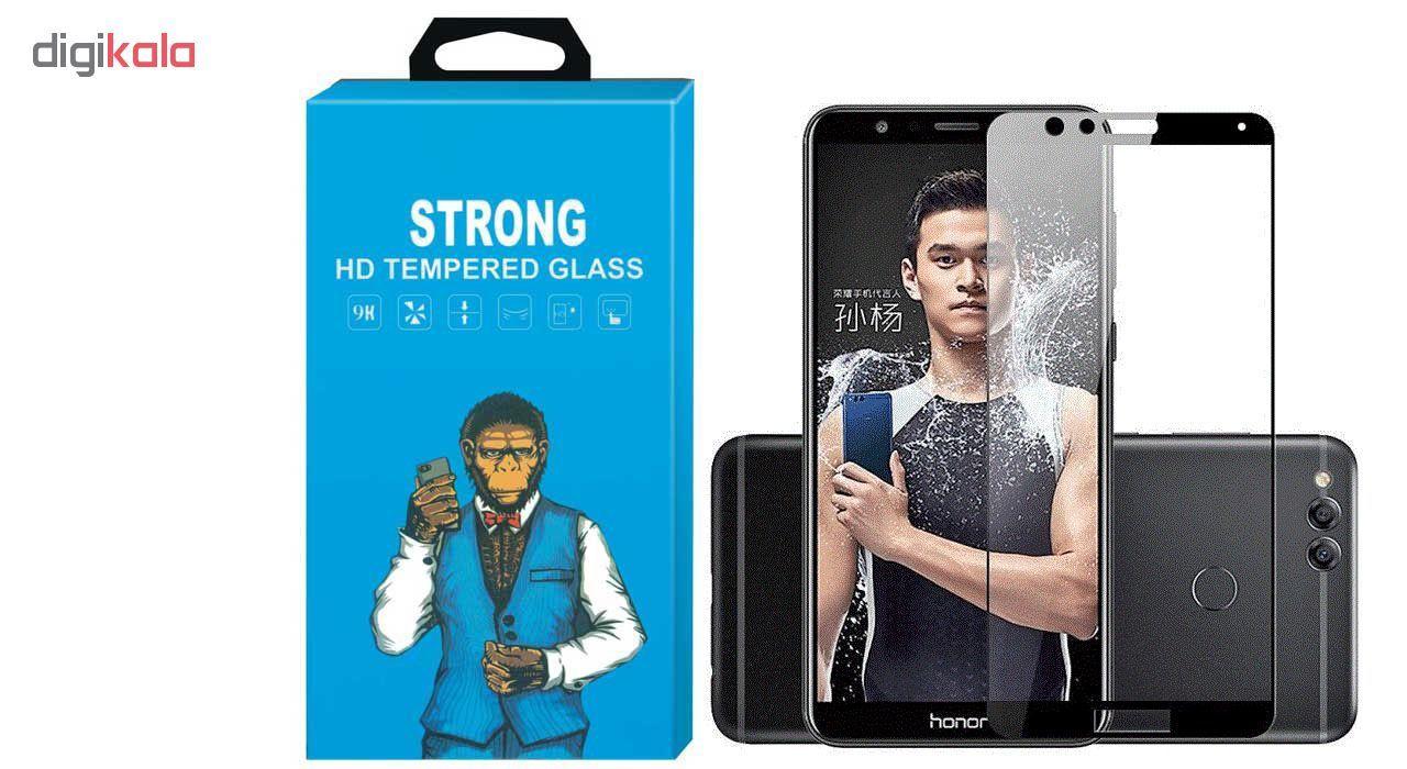 محافظ صفحه نمایش شیشه ای Strong مدل Fullcover مناسب برای گوشی موبایل هوآوی Honor 7X main 1 1