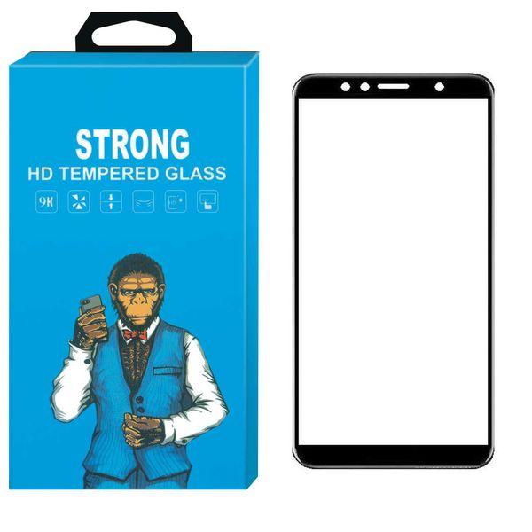 محافظ صفحه نمایش شیشه ای Strong مدل Fullcover مناسب برای گوشی موبایل هوآوی Honor 7A