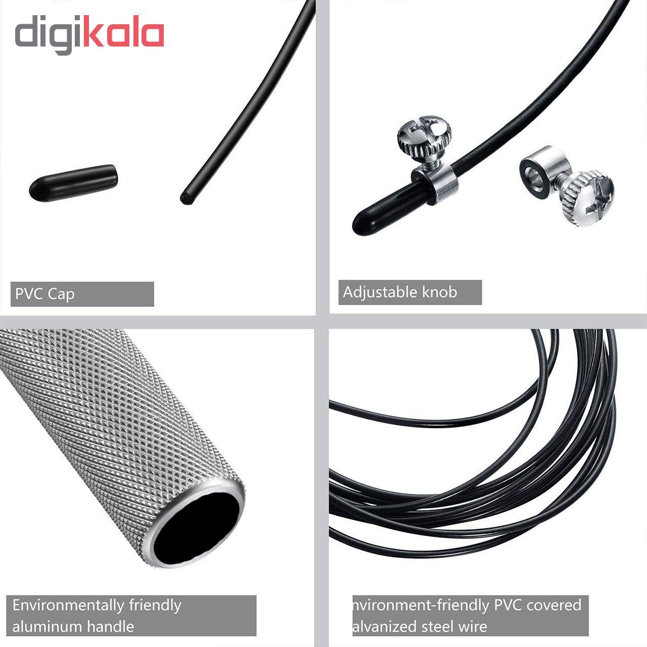 طناب ورزشی کراس فیت مدل 7 Speed Rope Fitness به همراه دستبند پاور بالانس main 1 1