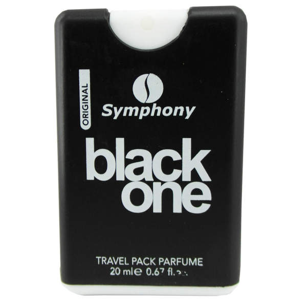 عطر جیبی مردانه سیمفونی مدل Black One حجم 20 میلی لیتر