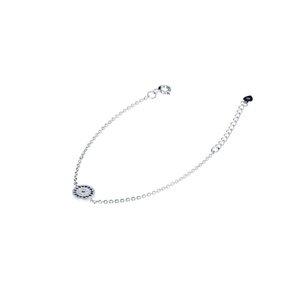دستبند نقره طرح چشم نظر کد DN 23