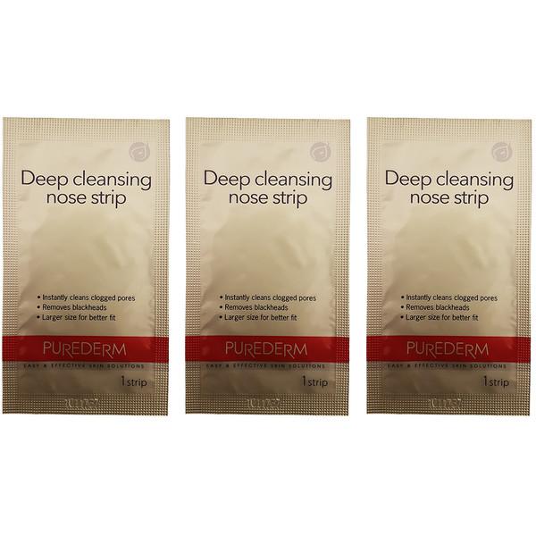 چسب پاک کننده بینی پیوردرم مدل Deep Cleansing بسته 3 عددی