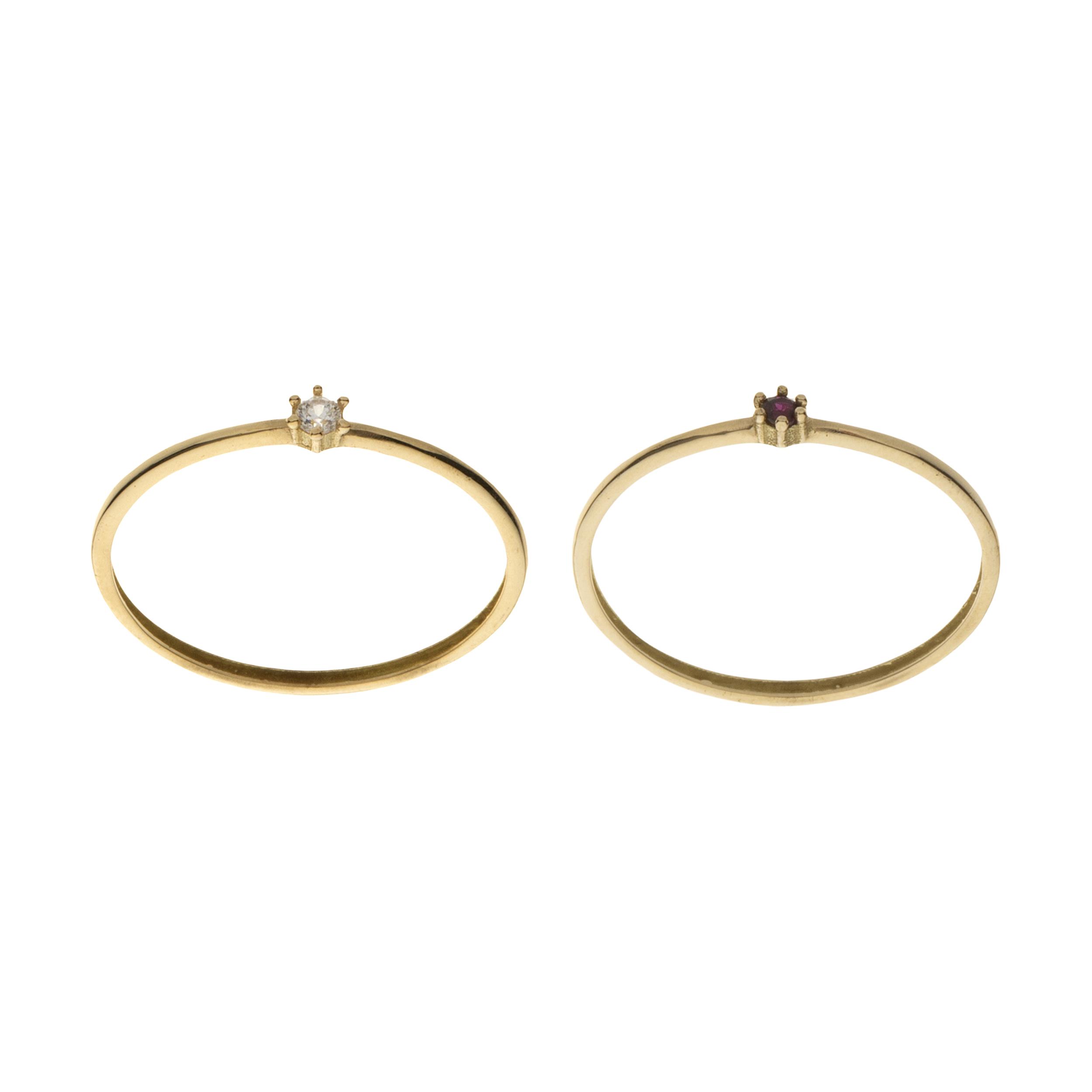 انگشتر طلا 18 عیار زنانه میو گلد مدل GD976-54 مجموعه 2 عددی