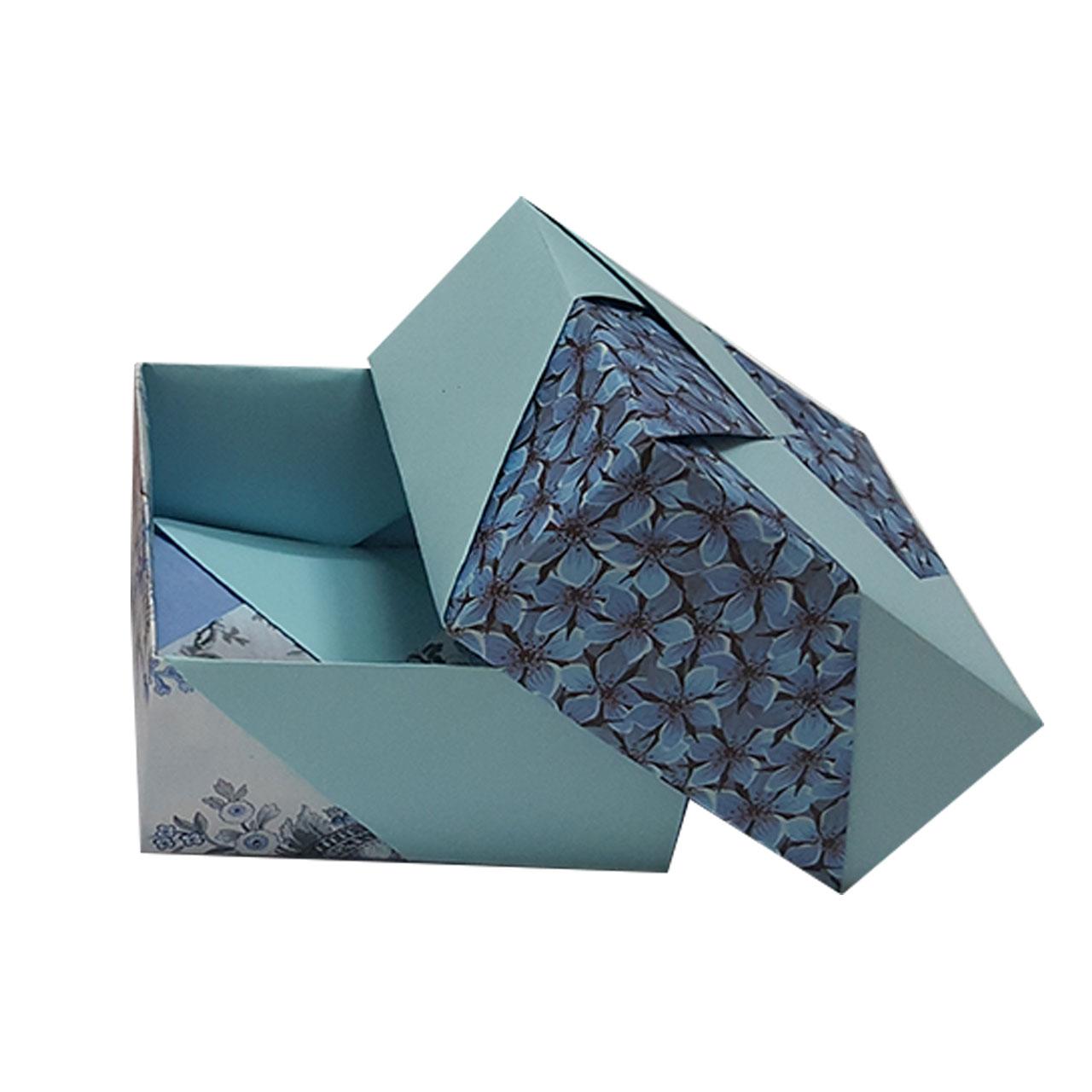 جعبه کادو مدل اریگامی blue sky