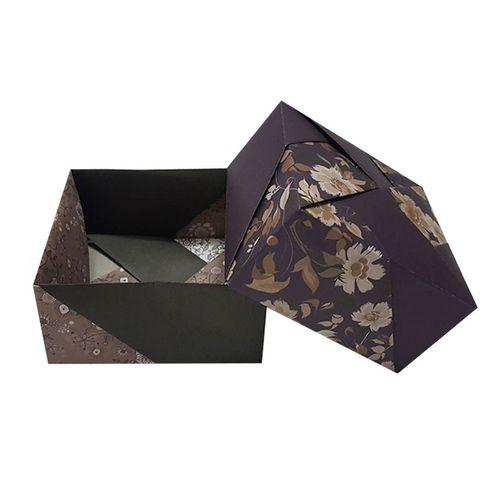 جعبه کادو مدل اریگامی grey grey