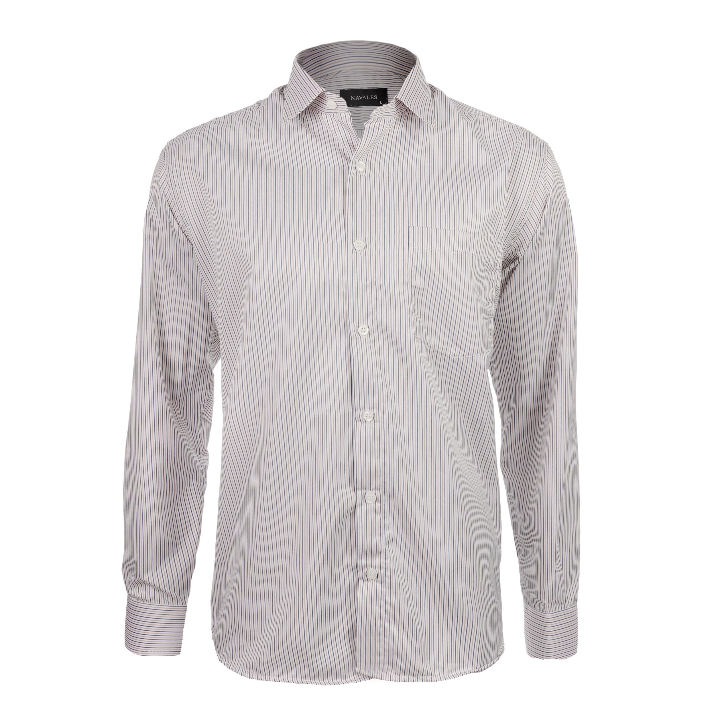 پیراهن آستین بلند مردانه ناوالس مدل RF-RahRiz--YL
