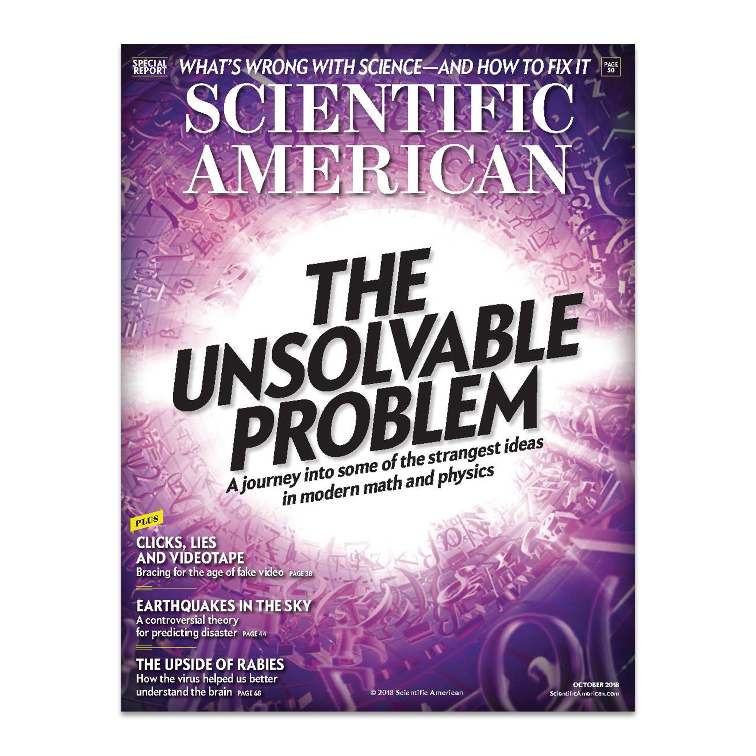 مجله ساینتیفیک امریکن اکتبر 2018