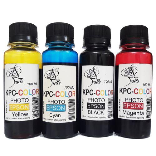 مجموعه رنگهای اصلی جوهر مخزن پرینتر اپسون برند کی پی سی کالر حجم 100 میلی لیتر
