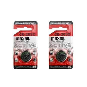 باتری سکه ای مکسل مدل CR2032 بسته 2 عددی