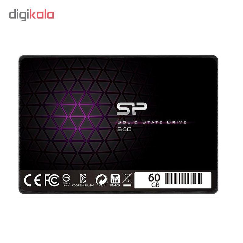 اس اس دی اینترنال سیلیکون پاور مدل S60 ظرفیت 60 گیگا بایت