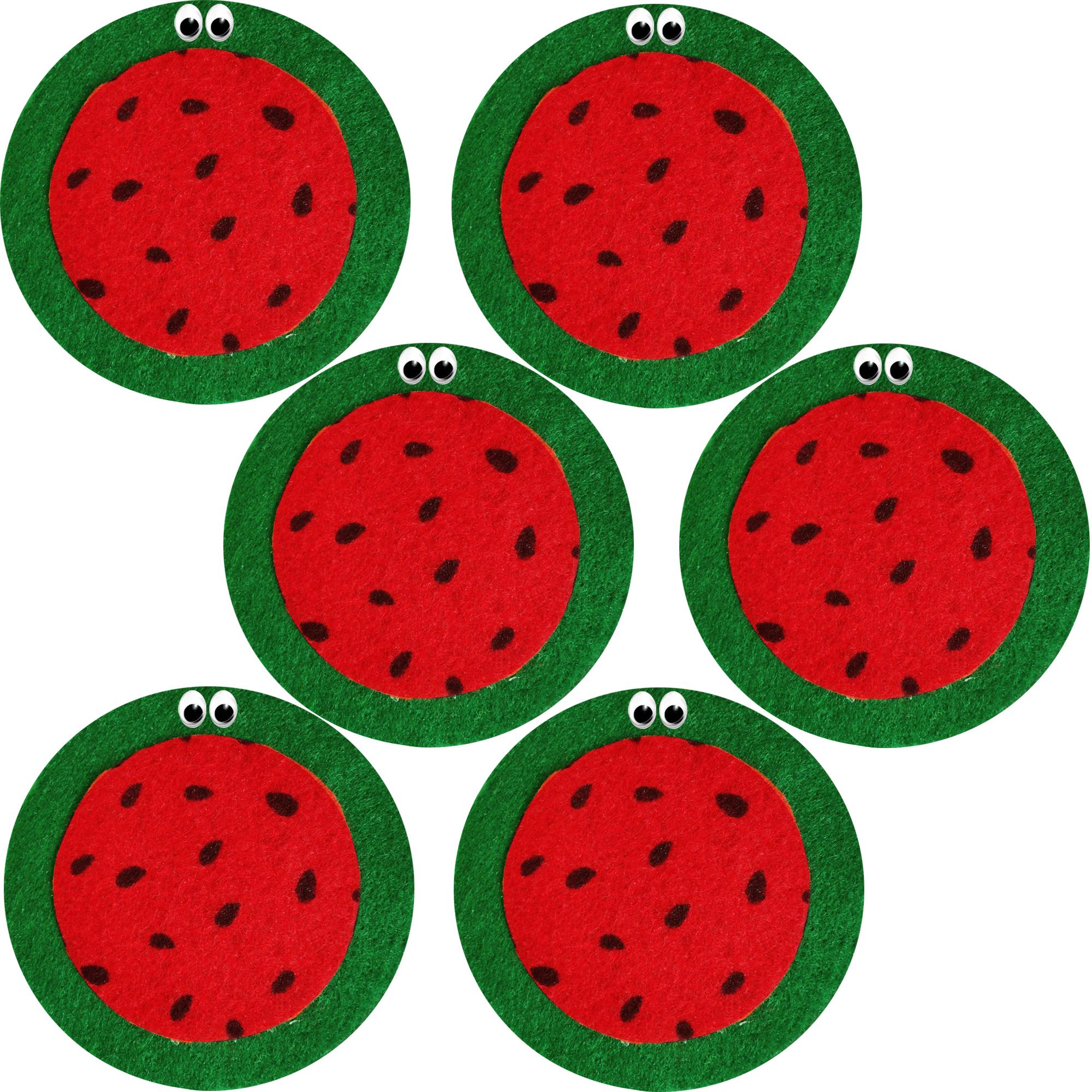 عکس زیر لیوانی طرح هندوانه کد 2301 بسته 6 عددی