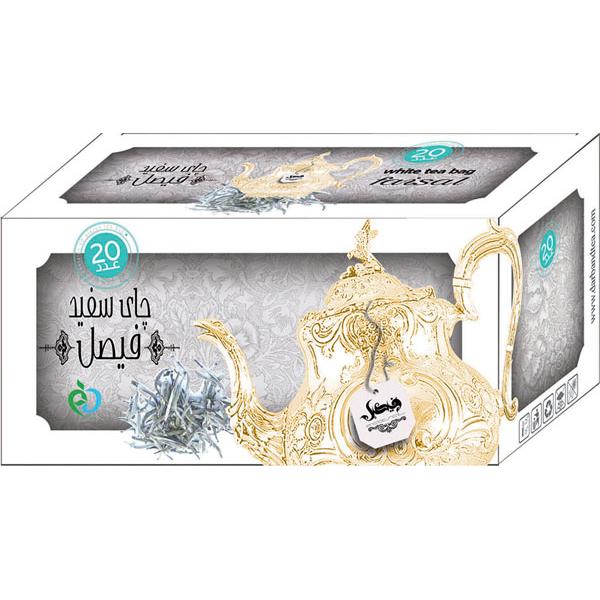 چای کیسه ای چای سفید فیصل مدل White Tea بسته 20 عددی