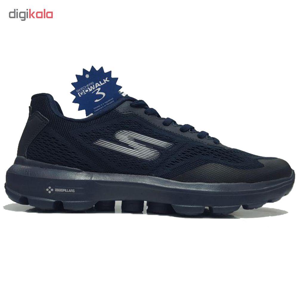 کفش مخصوص پیاده روی مردانه اسکچرز مدل go walk 3 pilars-Navy