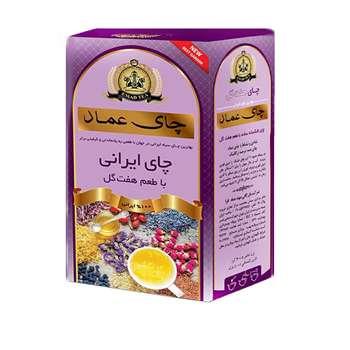 چای عماد مدل هفت گل ایرانی مقدار 400 گرم