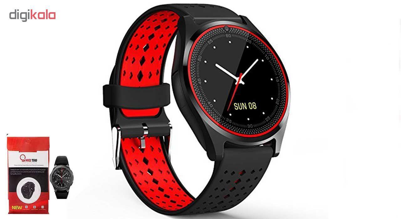 ساعت مچی هوشمند مدل V9 همراه محافظ صفحه نمایش شیدتگ main 1 4