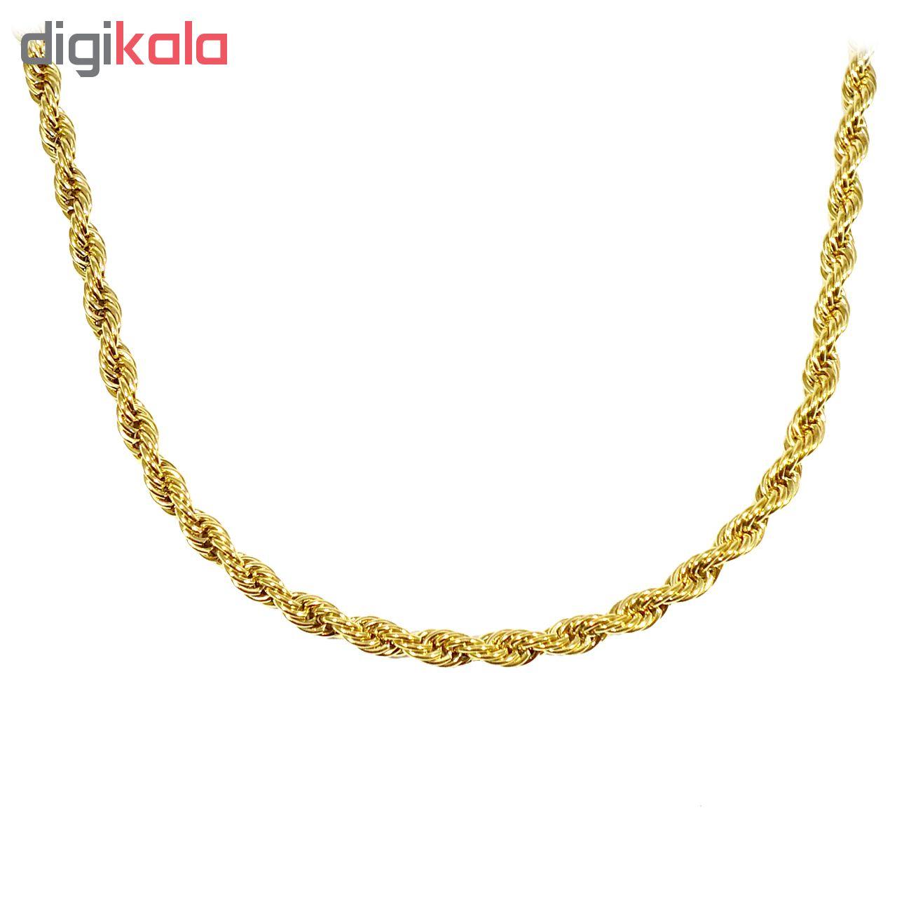 زنجیر آی جواهر طرح طنابی کد 11643G