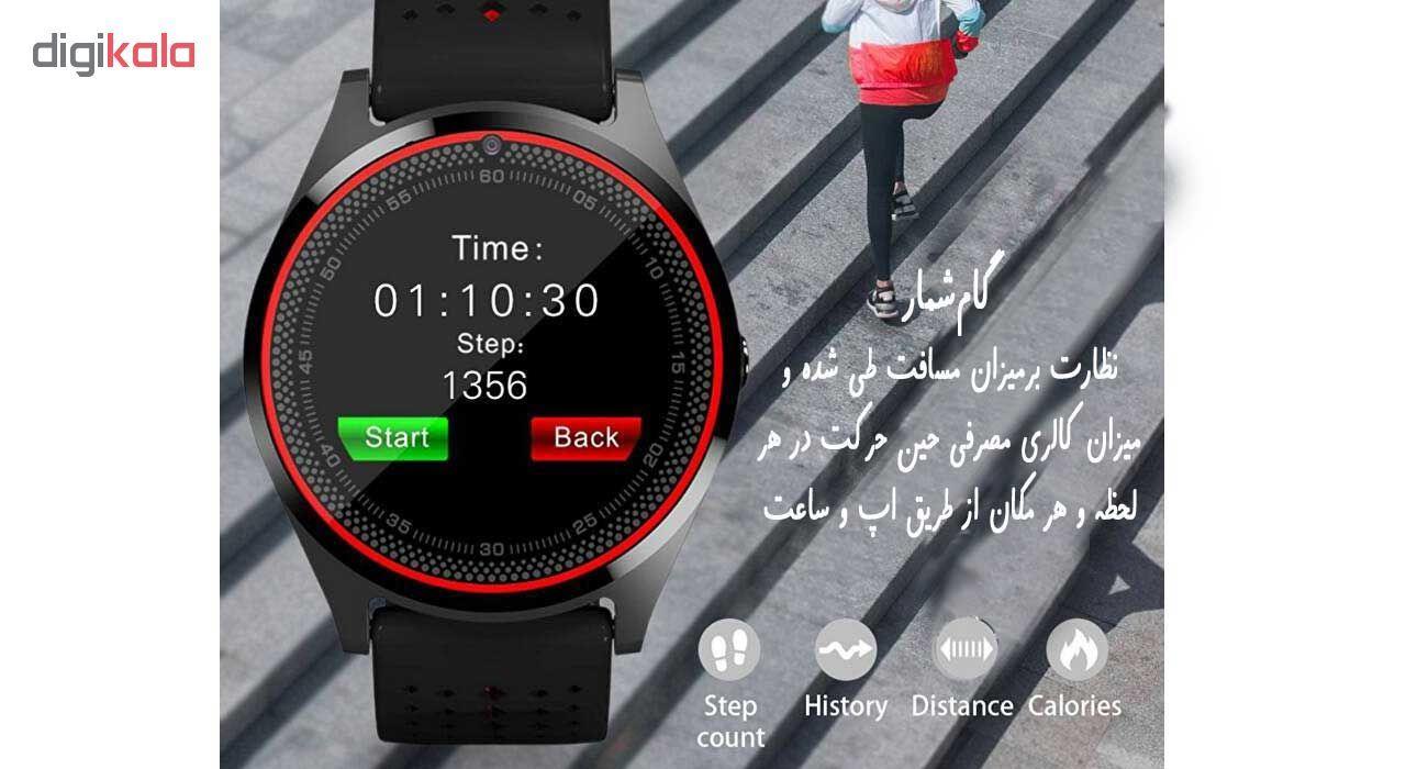 ساعت مچی هوشمند مدل V9 همراه محافظ صفحه نمایش شیدتگ main 1 8
