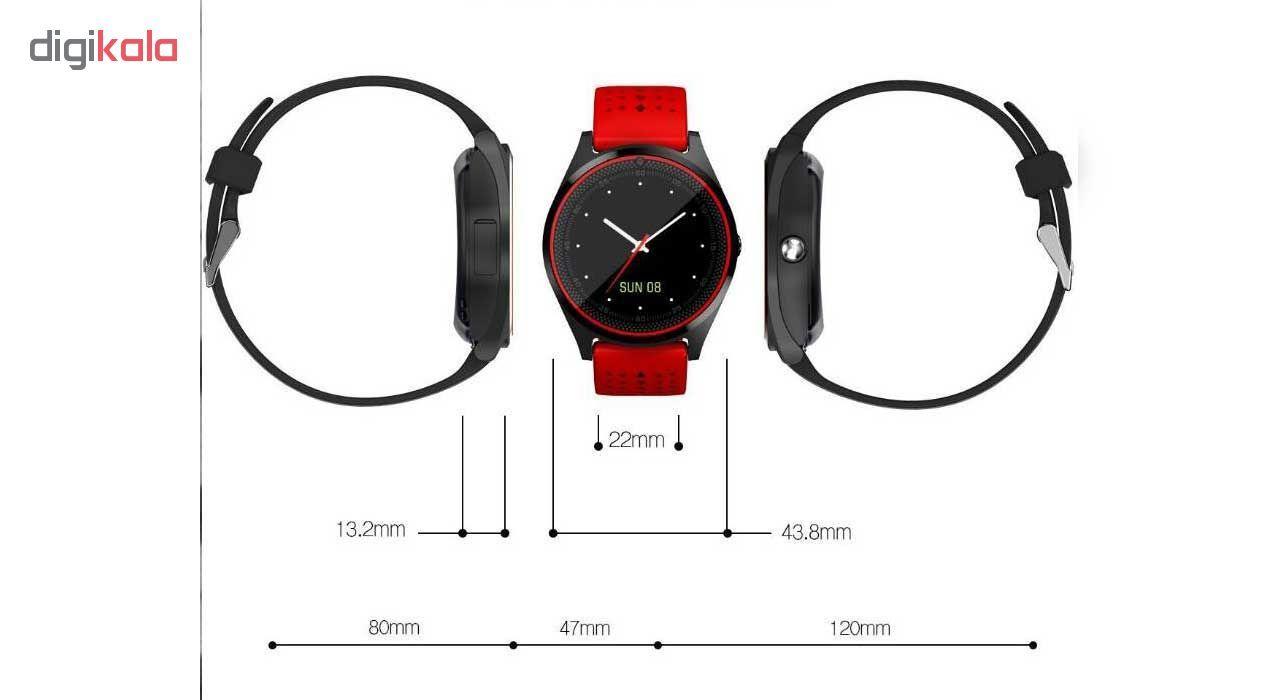 ساعت مچی هوشمند مدل V9 همراه محافظ صفحه نمایش شیدتگ main 1 12