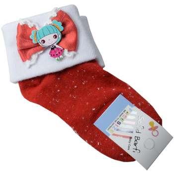 جوراب بچه گانه سفید برفی مدل Toy-Red  
