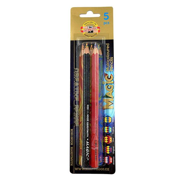 مداد جادویی کوه نور مدل جامبو 3406 بسته 5 عددی