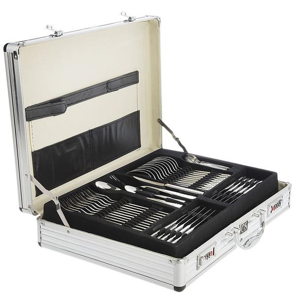 سرویس 92 پارچه قاشق و چنگال کارل اشمیت مدل D Sapor طرح جعبه آلومینیومی
