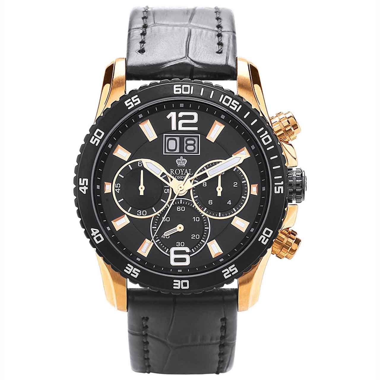 کد تخفیف                                      ساعت مچی عقربه ای مردانه رویال لندن مدل RL-41271-04