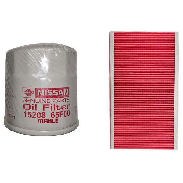 فیلتر روغن نیسان جنیون پارتس مدل 15208-65F01 مناسب براي نيسان ماکسیما به همراه فیلتر هوا