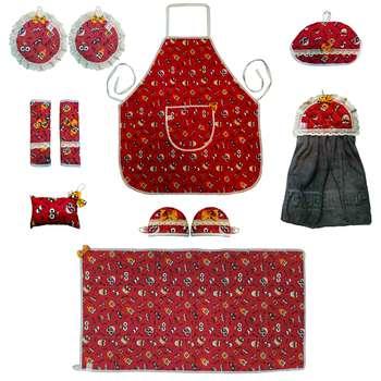سرویس آشپزخانه 11 پارچه صبا طرح باب اسفنجی کد 117