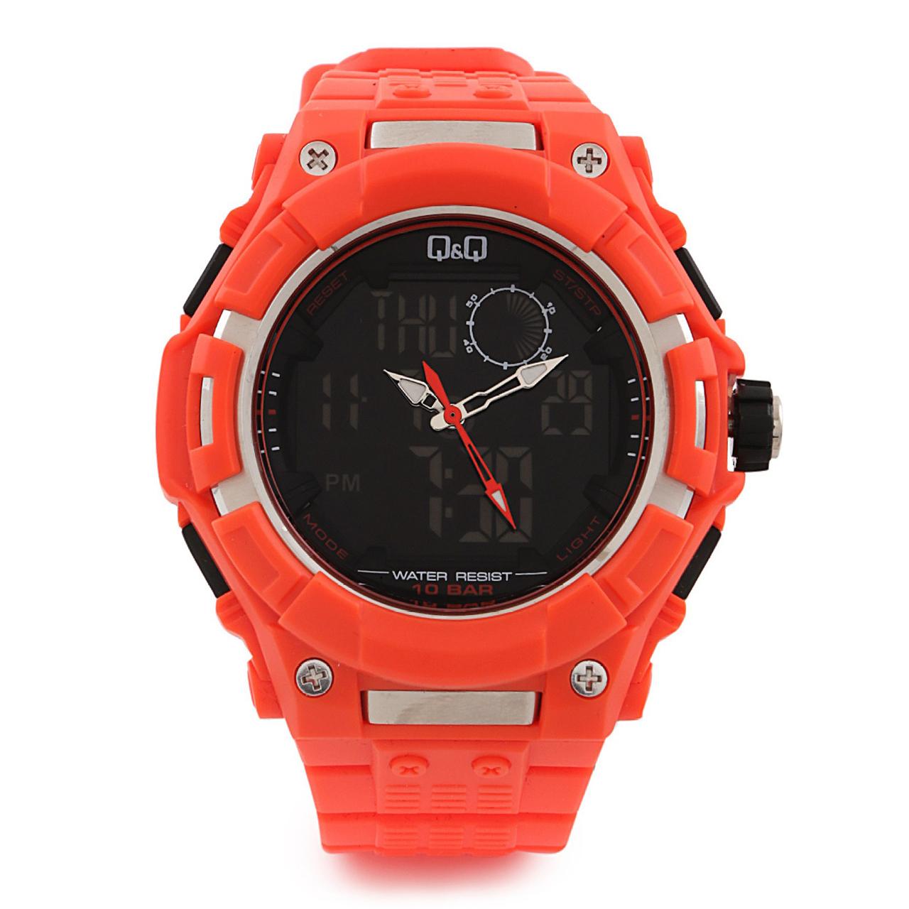 ساعت مچی عقربه ای کیو اند کیو مدل gw80j006y به همراه دستمال مخصوص برند کلین واچ 20