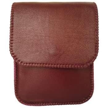 کیف رو دوشی چرم طبیعی گاوی دست دوز لمونو مدل آراز کد KL745
