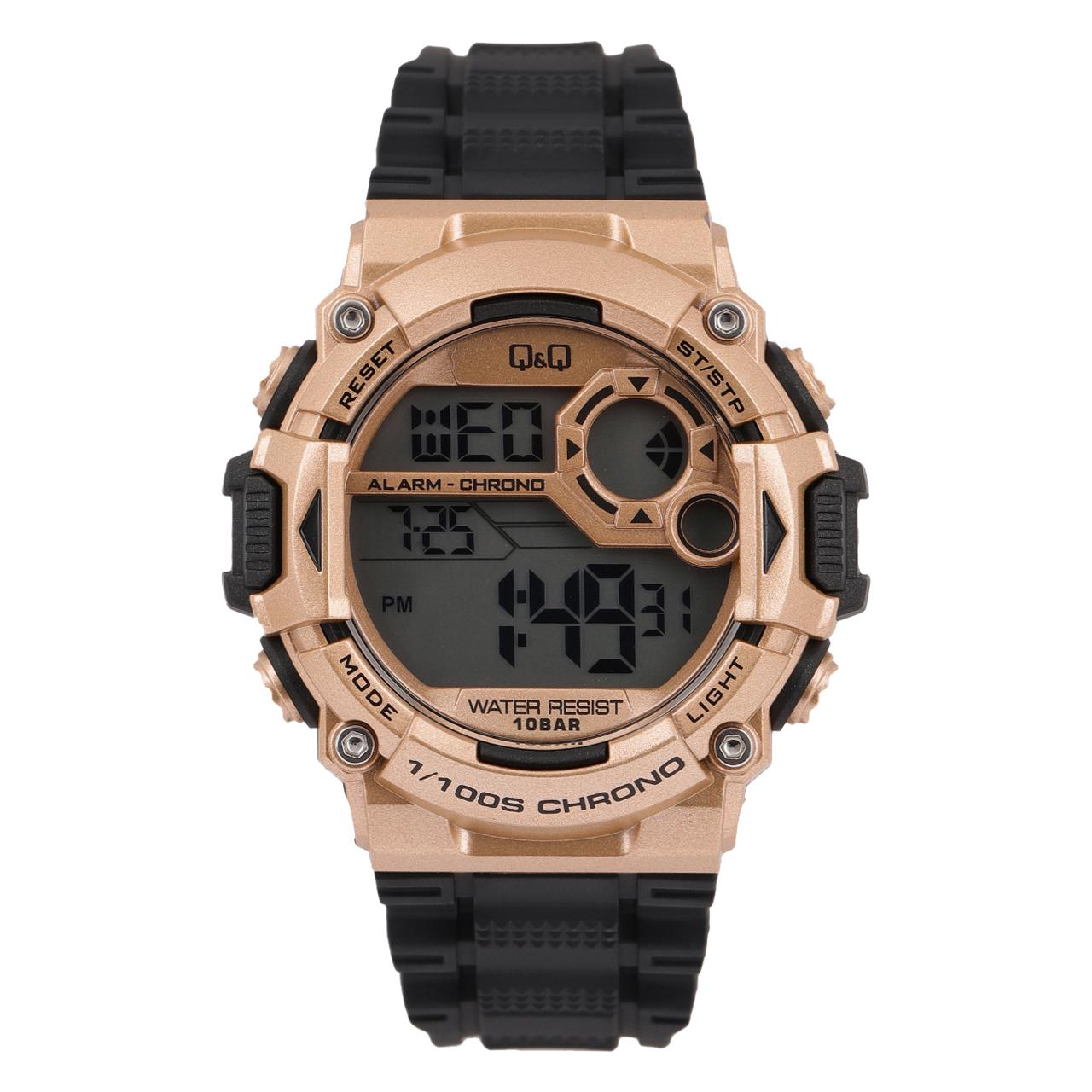 ساعت مچی دیجیتالی کیو اند کیو مدل m146j007y به همراه دستمال مخصوص برند کلین واچ