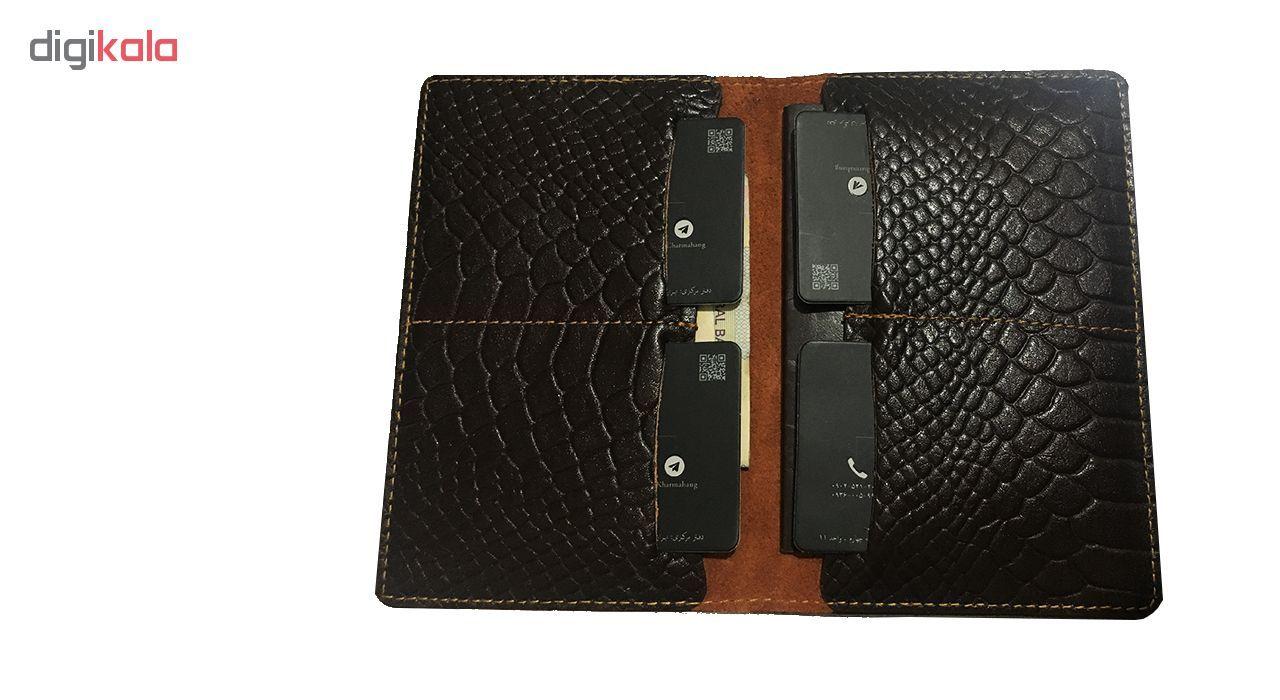 کیف پول و پاسپورت چرماهنگ مدل CH-W02-pit main 1 2