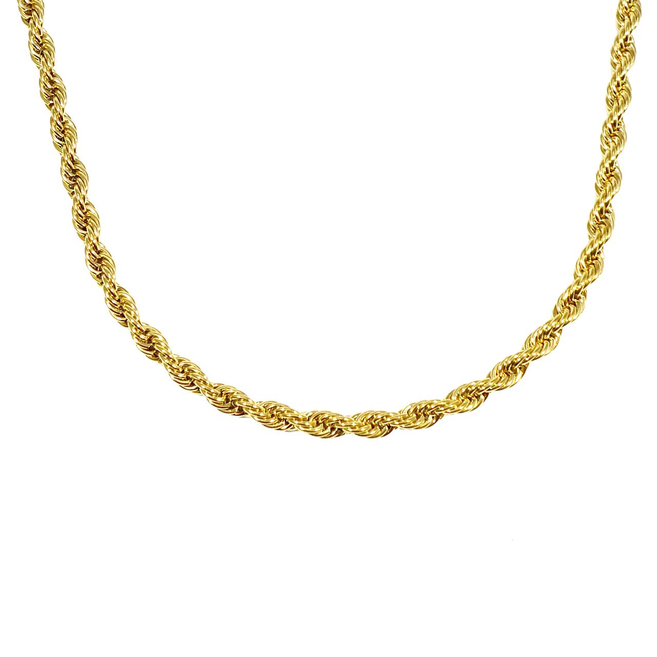 قیمت زنجیر آی جواهر طرح طنابی کد 11643G