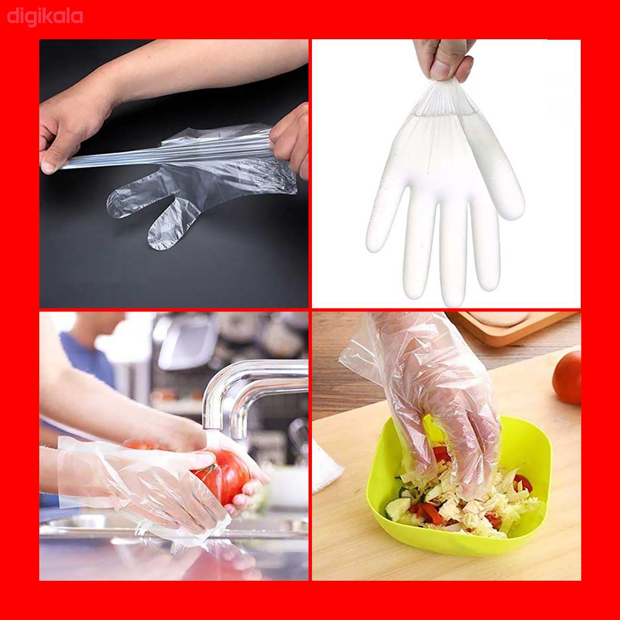 دستکش یکبار مصرف مدل N-01 بسته 100 عددی main 1 2